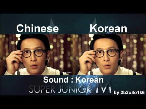 Super Junior-M - Super Girl | Chinese - Korean MV Comparison