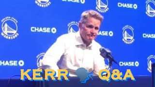 📺 Entire STEVE KERR postgame Q&A after Warriors loss to Denver Nuggets — TRANSCRIPT IN COMMENTS