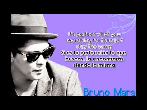 Just the way you are - Bruno Mars Lyrics/Letra español - ingles
