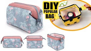 DIY Zipper Wire Frame Pouch Bag & Makeup Bag Tutorial & Mast Have