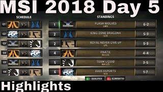 MSI 2018 Highlights Day 5 ALL GAMES + TIE-BREAKERS | Mid Season Invitational 2018