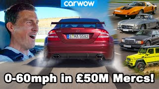 £50M of rare Mercedes launched 0-60mph! I can't believe they let me do this!