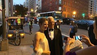 Giorgio Armani & Bebe Vio Arriving at the White House State Dinner / Cal Morris Performs