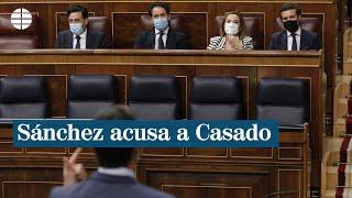 """Sánchez acusa a Casado de usar al Rey y la Constitución para """"dividir a los españoles"""""""