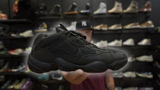 BUYING UTILITY BLACK ADIDAS YEEZY 500 FROM THE MALL!