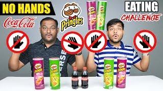 NO HANDS PRINGLES CHIPS EATING CHALLENGE | Pringles Chips Eating Competition | Food Challenge