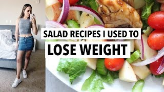 5 HEALTHY SALAD RECIPES FOR WEIGHT LOSS | Easy Lunch & Dinner Ideas!