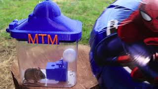 The 3D Printed Helium Balloon Mouse Trap In Action - Invented by a youtube viewer.