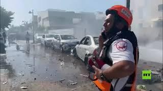 أضرار في مدينة عسقلان جراء سقوط صواريخ من غزة