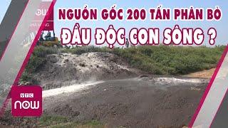 """Tin nóng 24h   Bí mật """"200 tấn phân bò"""" đầu độc môi trường sông Trà Lý   Cuộc sống nhà nông 24h"""