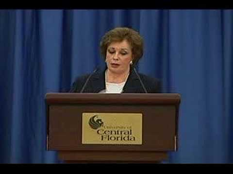 UCF Reports - Jehan Sadat, Former First Lady of Egypt - YouTube