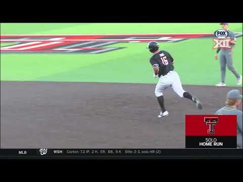 Baylor vs Texas Tech Baseball Highlights - Game 1