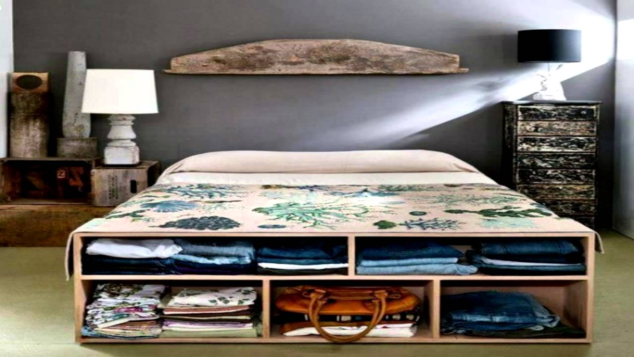 Cool Beds For Small Rooms With Limited Storage: 44 Smart Bedroom Storage Ideas