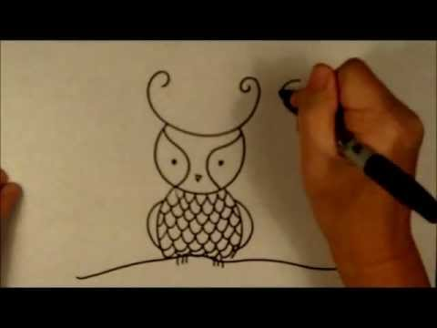 How to Draw a Cartoon Owl Easy Beginner Drawing Tutorial ...
