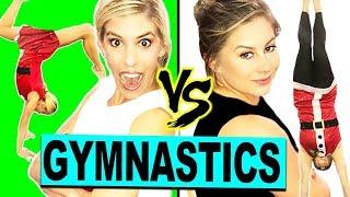 Ultimate Holiday Gymnastics Challenge with Shawn Johnson! (Gymnast vs Olympian)