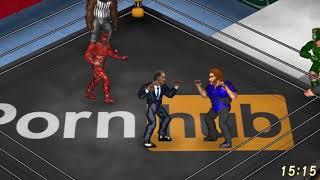 The Trailer Park Boys vs. Jesus, Gandhi and Obama (TRIOS ELIMINATION MATCH) (Fire Pro Dream Match)