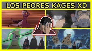Los 5 PEORES KAGES de todo BORUTO y NARUTO
