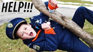 IMPOSTER vs Kid Cops- Sketchy Mechanic and Officer Ryan Family Fun Video
