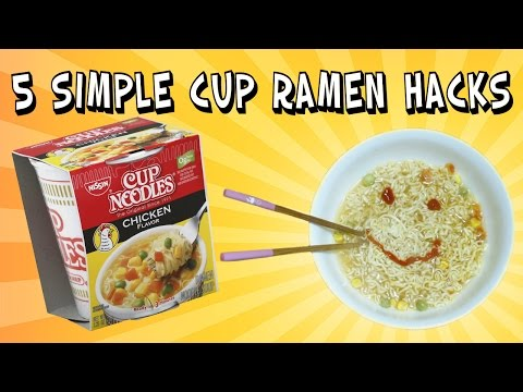 5 Simple Cup Ramen Hacks