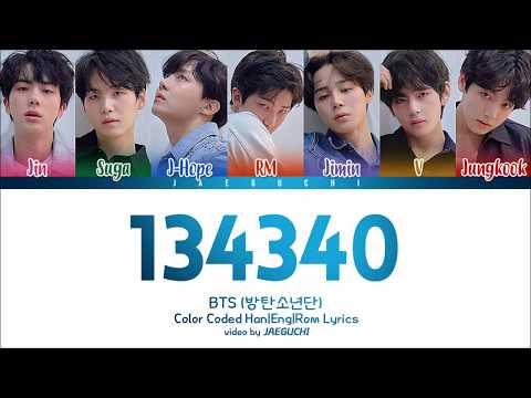 BTS (방탄소년단) - 134340 (PLUTO) (Color Coded Lyrics Eng/Rom/Han)