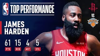 James Harden Drops a CAREER-HIGH 61 Points In New York | January 23, 2019