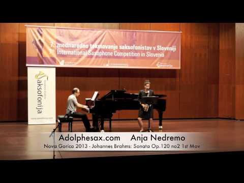 Anja Nedremo - Nova Gorica 2013 - Johannes Brahms: Sonata Op 120 no2 1st Mov