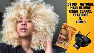 RE-DYING MY HAIR BLONDE WITH CLARIOL TEXTURES &TONES BOX DYE (NO AMMONIA) *TYPE 3C/4A*
