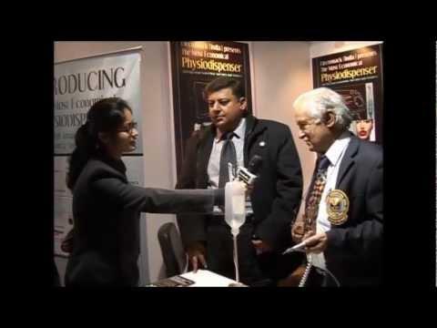 Mr. Rajiv from Electromac in Expodent International 2012 Delhi