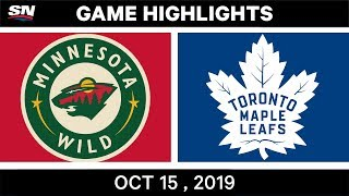 NHL Highlights | Wild vs. Maple Leafs – Oct. 15, 2019
