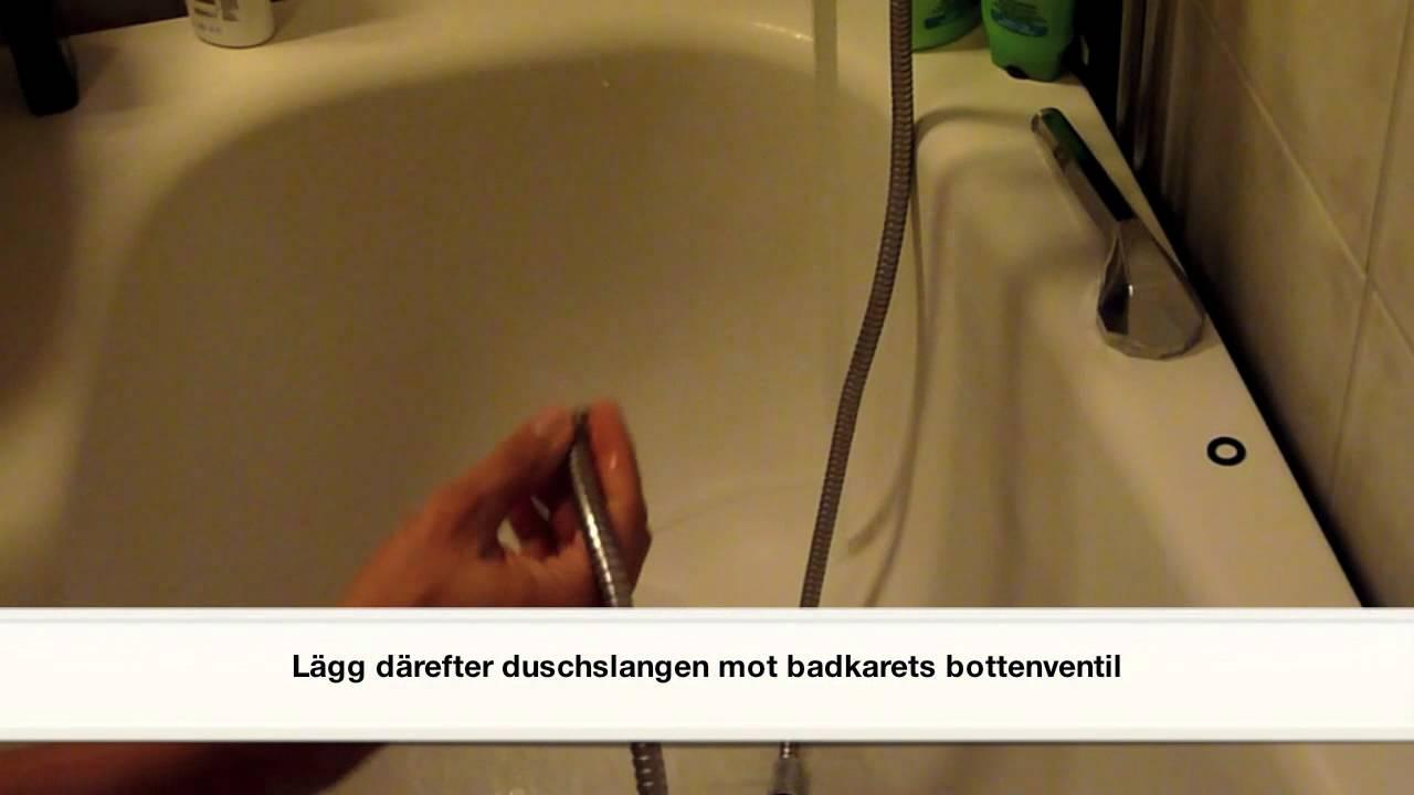rensa avlopp duschkabin