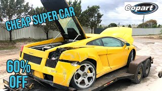 Rebuilding a wrecked Lamborghini bought from Copart