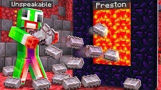 7 Ways to Steal Unspeakable's Netherite! - Minecraft