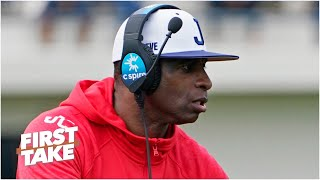 First Take analyzes Deion Sanders' coaching debut and the incident involving stolen items