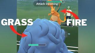 Triple GRASS Team(feat. Shiny Roserade) VS CHARIZARD Team in Pokemon Go Battle League