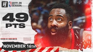 James Harden Full Highlights vs Timberwolves (2019.11.16) - 49 Pts, 6 Ast, 5 Reb!