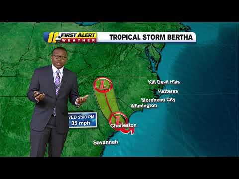 Tropical Storm tracker 2020: Bertha makes landfall east of Charleston, South Carolina