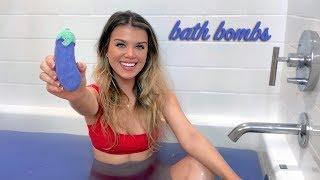 i tried making my own bath bombs