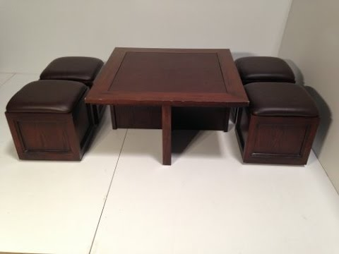 Coffee Table with Nested Ottomans by AnyAssembly store