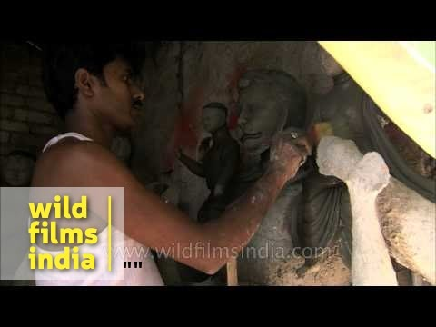 Indian Sculptor at Work an Indian Sculptor at Work