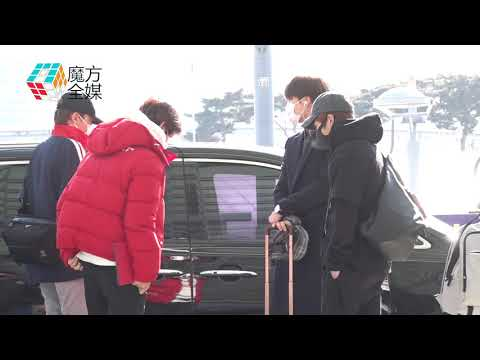 2019-01-16 EXO八子赴智利參加SMTOWN 人氣超高機場遭圍堵