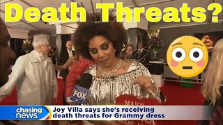 Joy Villa on receiving death threats for Grammy dress