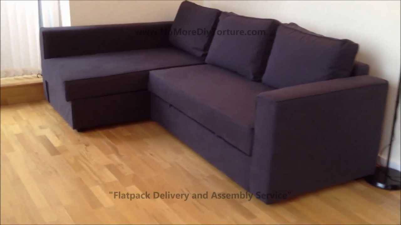 Ikea Manstad Corner Sofa Bed With Storage Youtube