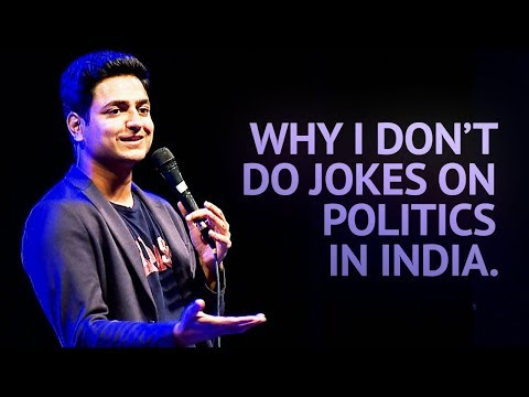 Why I Don't Do Jokes About Politics in India - Stand Up Comedy | Kenny Sebastian