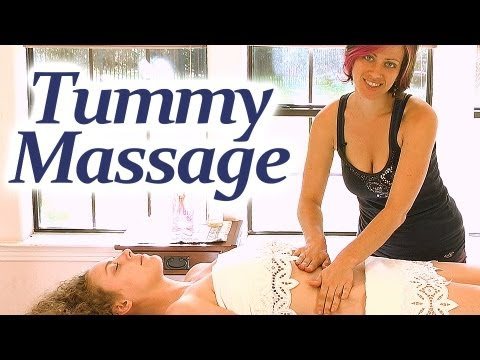tummy massage how to jen hilman relaxing spa techniques