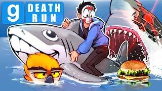 Gmod Ep. 79 DEATH RUN! - SUMMER SHARK WEEK EDITION! (Garry's Mod Funny Moments)