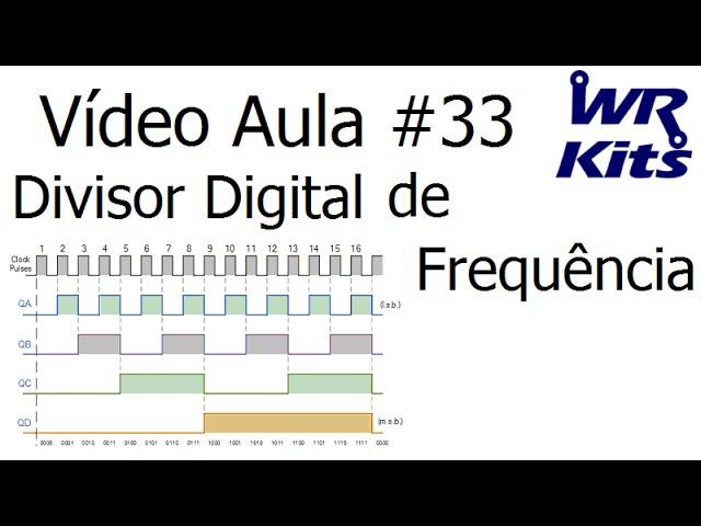 DIVISOR DIGITAL DE FREQUÊNCIA | Vídeo Aula #33
