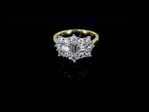 Browns Family Jewellers 1.75 Carat Diamond Cluster Ring