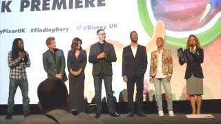 Finding Dory Premiere London Interviews & Intros with Ellen DeGeneres Portia de Rossi & co