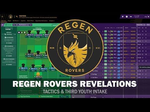 Regen Rovers Revelations #6 - Tactics & 3rd Youth Intake | Football Manager 2019