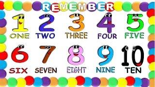 Numbers in English 1 to 10 for Children NEW!, Numeros en Ingles 1 al 10 para Niños NUEVO!